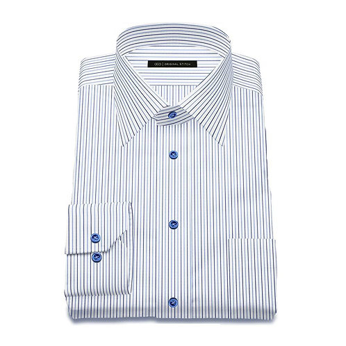 Men's Tailored - Blue Pinstripe - Front View