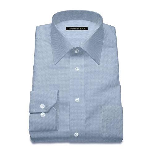 Solid Blue - Men's Tailored Dress Shirt