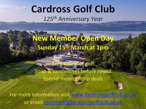 Cardross Golf Club Open Day