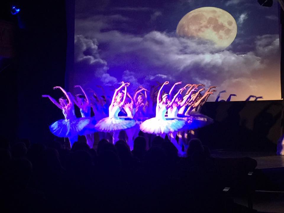 Swan lake on stage
