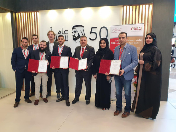 Accreditation ceremony by the Emirates International Accreditation Center (EIAC) UAE