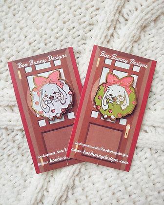 Glitter Bunny Wreath Pins