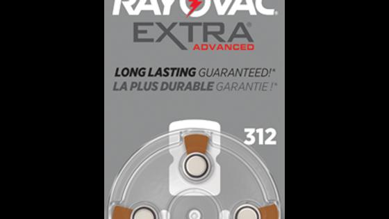 Rayovac Extra Advanced Size 312 Hearing Aid Batteries