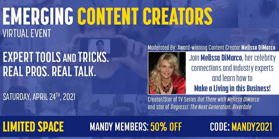 Emerging Content Creators Event