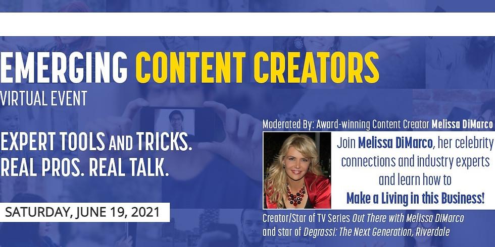 Emerging Content Creators Event June 19, 2021
