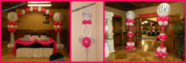 Balloon Decorations for a modern Baby Shower