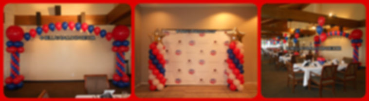 Balloon Decorations for a High School Reunion, and Cheerleading event