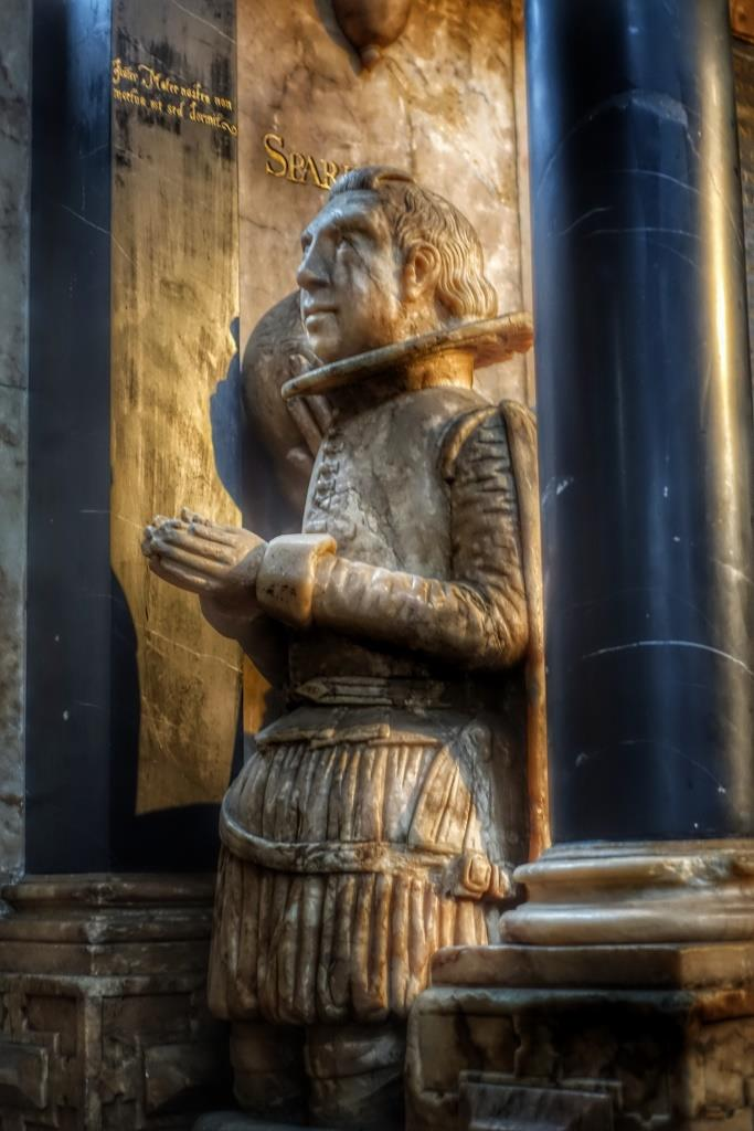 27. Sir John Suckling memorial detail