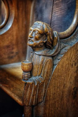 15. Chancel pew detail
