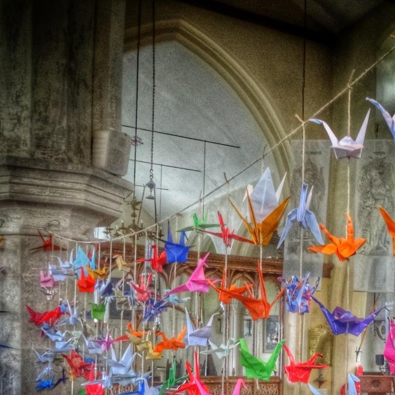 11. The paper cranes