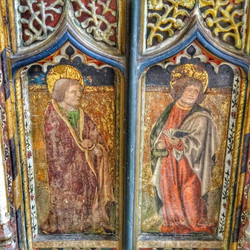 28. Rood screen painting
