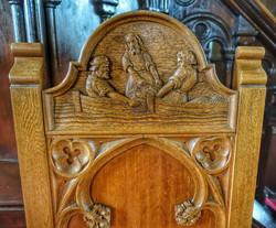 16. Celebrant's chair detail