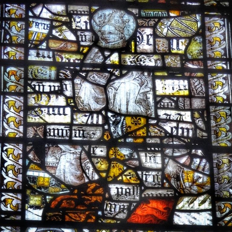 18. East window - Medieval fragments