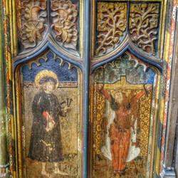 30. Rood screen painting