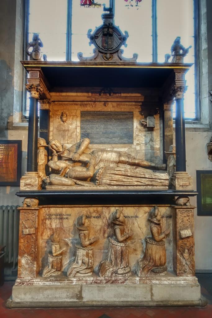 30. Sir John Suckling memorial detail