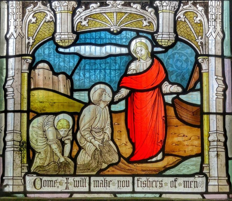 17. South chancel window detail