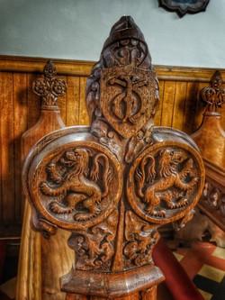18. Lion bench detail