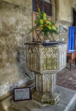 18. 14th century font
