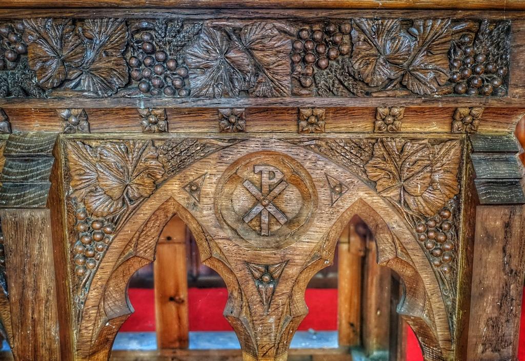 20. High altar table carved by Vincent Raven