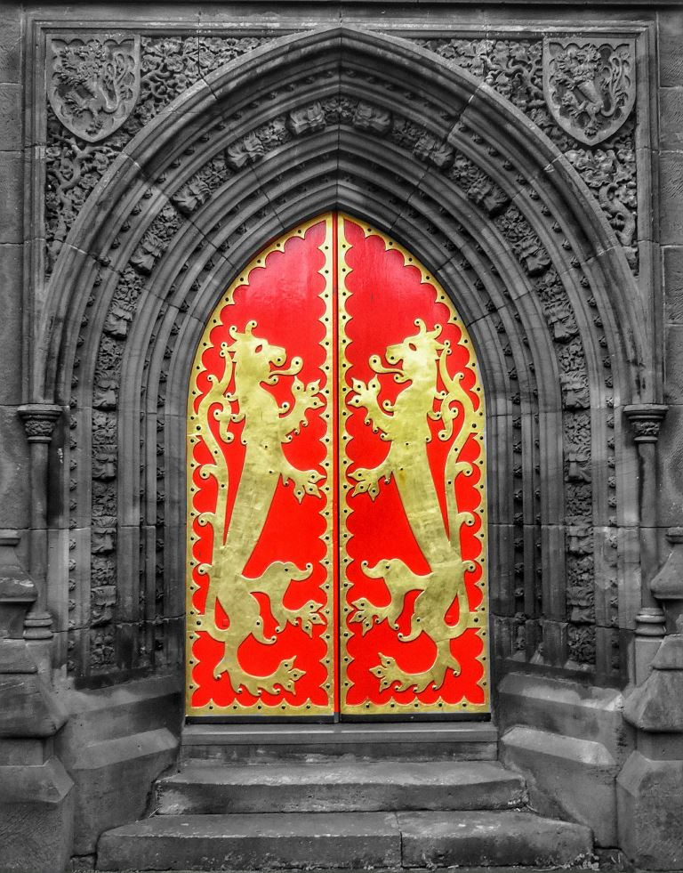 2. West doors