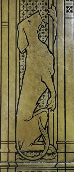 34. Talbot hound detail on memorial