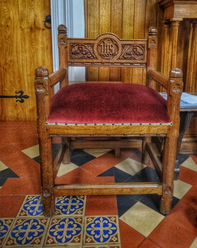 29. Chancel chair
