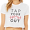 Thumbnail: TAP YOUR HEART OUT CROPPED T-SHIRT