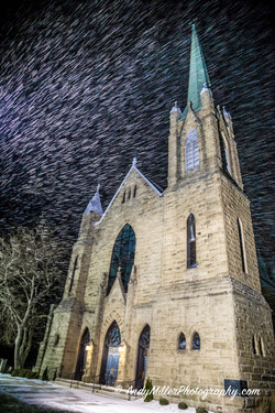 Snow at Sacred Heart of Jesus