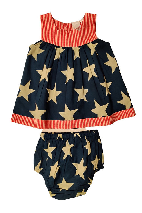Stars and Stripes Dress and Bloomer Set