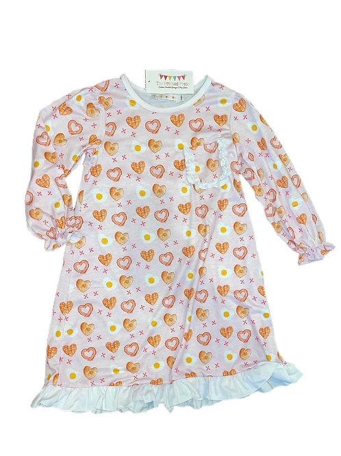Girls Valentine's Day nightgown