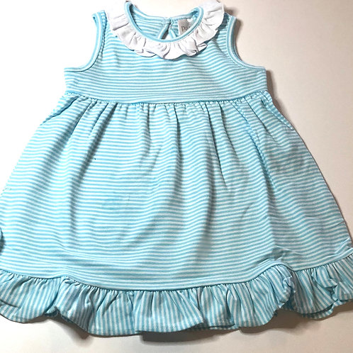 Turquoise and White Stripe Dress