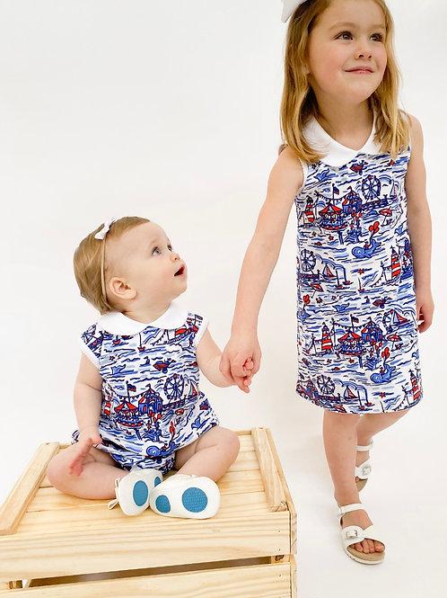 Seaside Fair Pima Cotton Dress