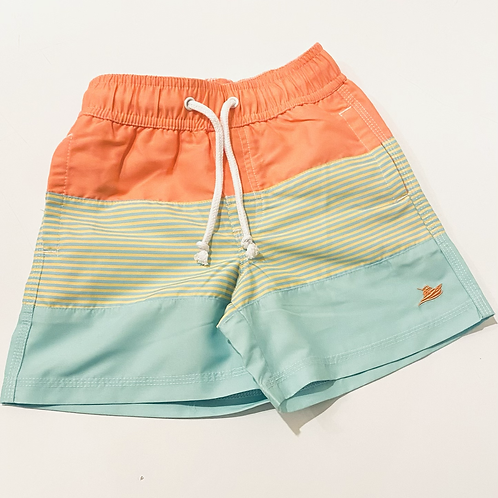 Yellow Stripe Color Block Southbound Swim Trunks