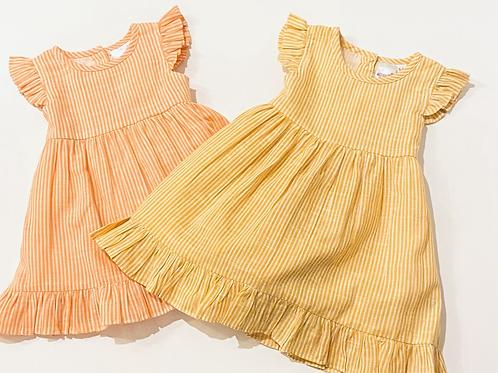 Little Girls Stripe Dress and Bloomer Set
