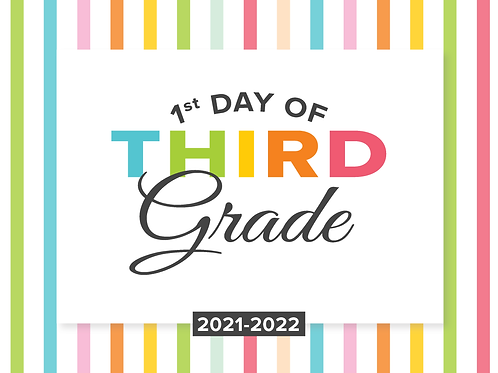 Third Grade Girl's Back to School Sign