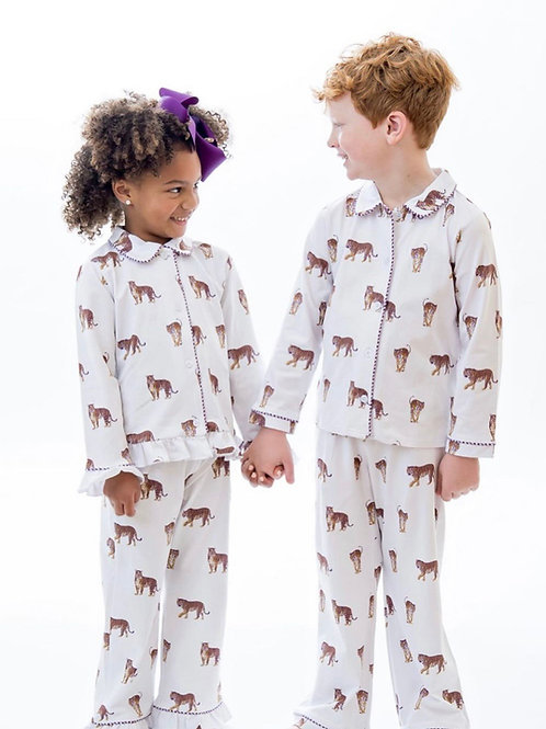 Tiger Button Up Pajamas