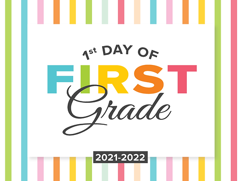 First Grade Girl's Back to School Sign