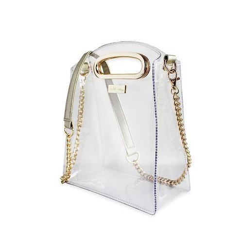 Cooper Crossbody Gold Clear Stadium Approved Tote