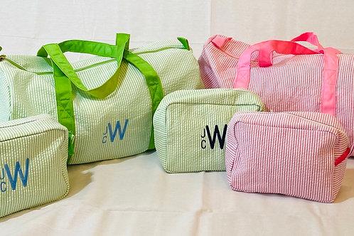 Seersucker Tolietry Bags
