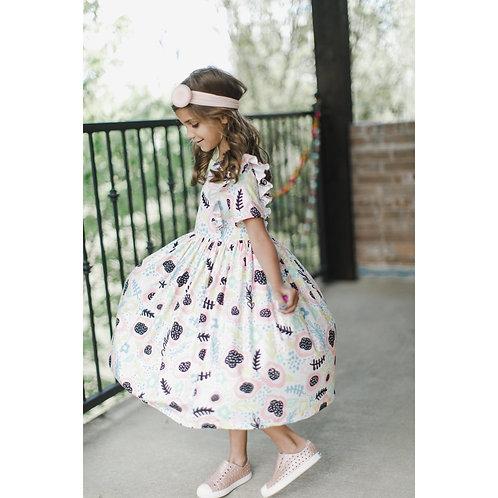 Pastel Posy Short Sleeve Twirl Dress