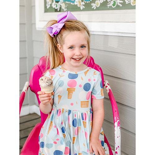 We All Scream Short Sleeve Twirl Dress