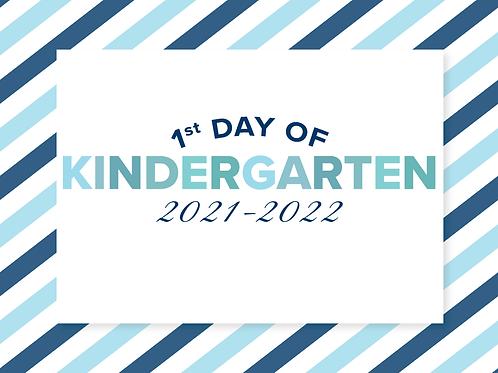 Kindergarten Boy's Back to School Sign