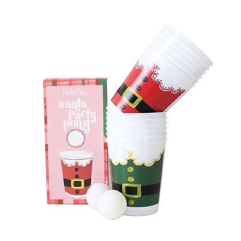 Santa Party Pong Set