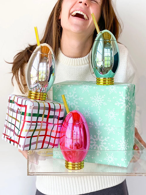 Shiny and Bright Holiday Light Cup Set of 3