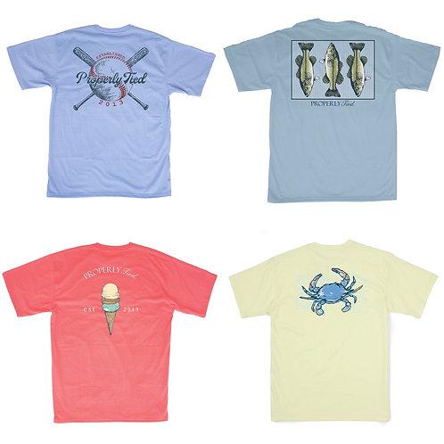 Boys Short Sleeve Properly Tied T-shirts