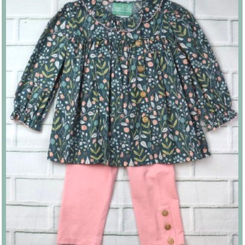 Floral Side Button Pant Set