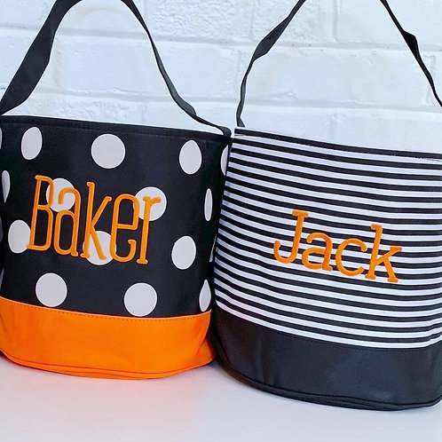 Embroidered Halloween Buckets