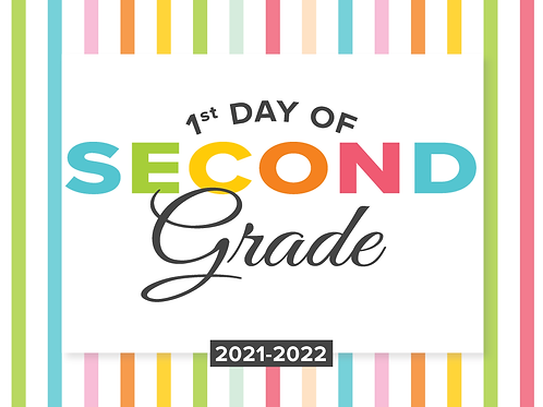 Second Grade Girl's Back to School Sign
