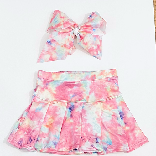Girls Tennis Skirt and Matching Bow