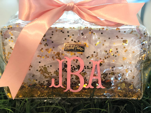 Gold Confetti Vanity Bag